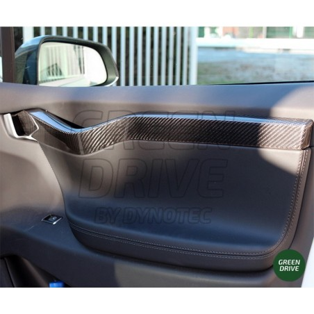 Carbon Interior Handles - Tesla Model X