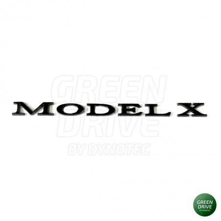 """Emblème """"MODEL X"""" noir mat pour coffre arrière - Tesla Model X"""