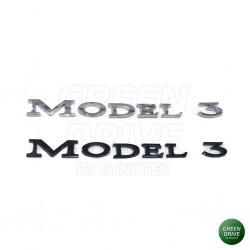 """Emblem """"MODEL 3"""" for rear trunk - Tesla Model 3"""