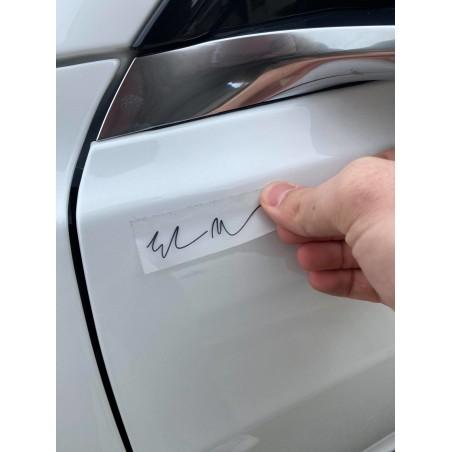 Autocollant signature Elon blanc ou noir