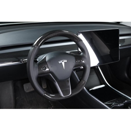 Carbon insert for lower steering wheel - Tesla Model 3 and Y