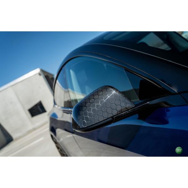 Carbon Rear View Mirror Cover - Tesla Model 3
