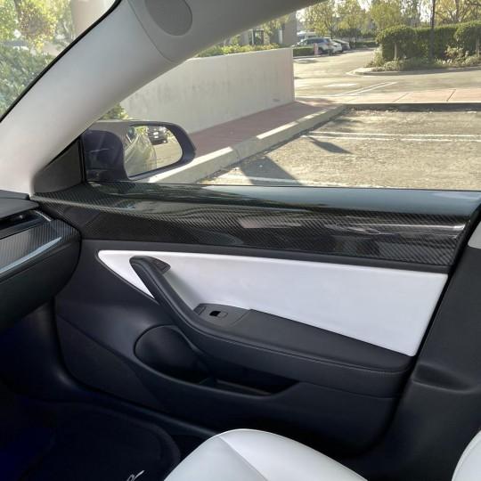 Panneaux de portes en carbone (4pcs) - Tesla Model 3 et Y (2019-2020)
