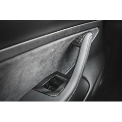 Carbon Interior Door Knobs - Tesla Model 3 and Y