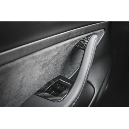 Boutons de portes intérieurs en carbone - Tesla Model 3 et Y