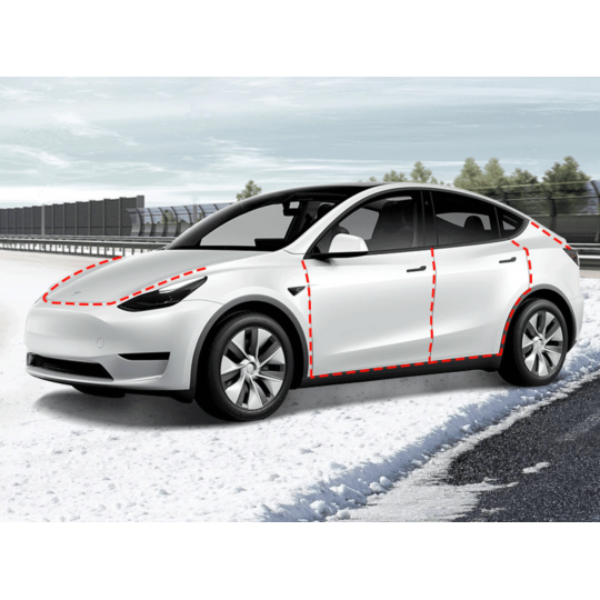 Juntas para puertas con reducción de ruido - Tesla Model Y