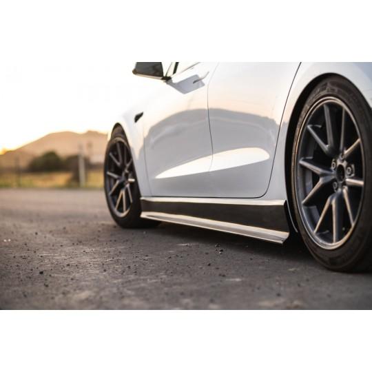 Jupes latérales MaierEV en fibre de carbone pour Tesla Model 3