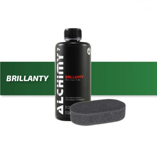 Brillanty tire cleaner and its applicator pad - Alchimy 7