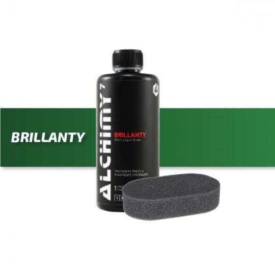Detergente per pneumatici Brillanty e il suo tampone applicatore - Alchimy 7