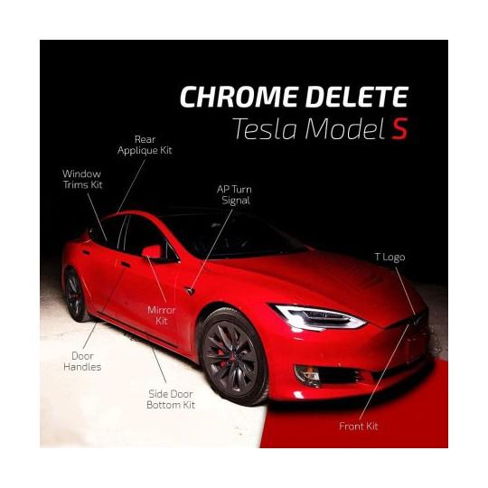 Chroom verwijderen - Tesla Model S