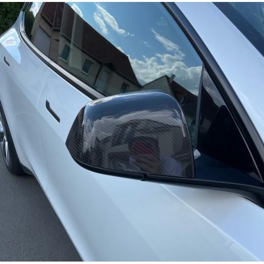 Carbon mirror cover - Tesla Model Y