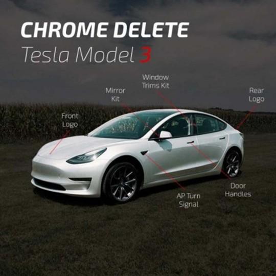 Chrome delete covering - Tesla Model 3