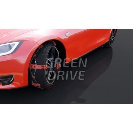Chaînes frontales en acier renforcé - Tesla Model S, X et 3