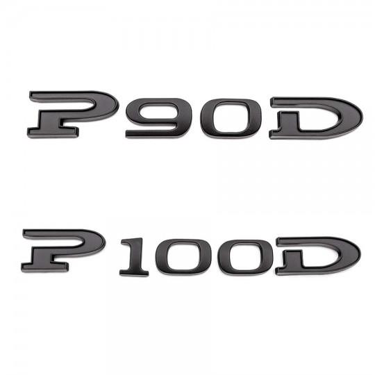 "P100D"" / ""P90D"" zwart logo - Tesla Model S en X"
