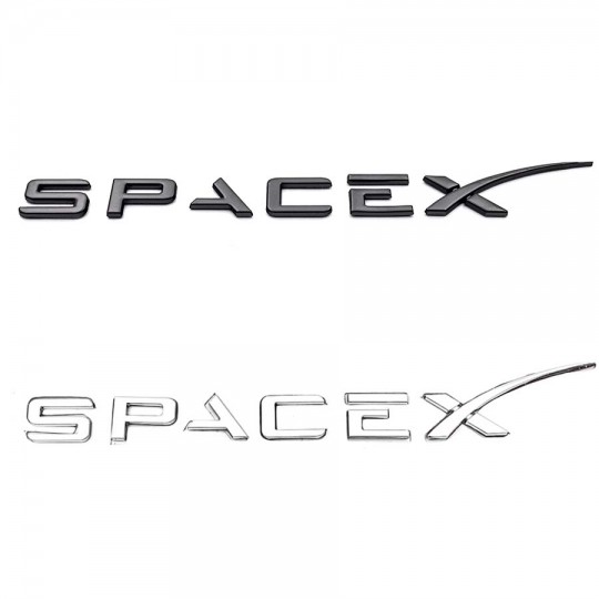 """SPACE X"""" emblem for rear trunk - Tesla model S, X, 3 and Y"""