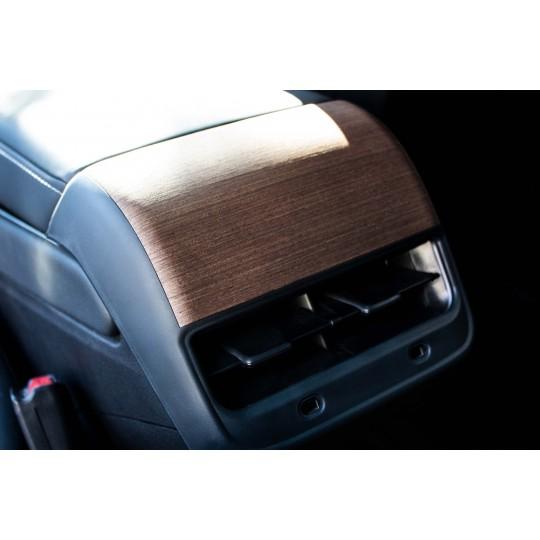 Wooden rear ventilation insert for Tesla Model 3 and Model Y