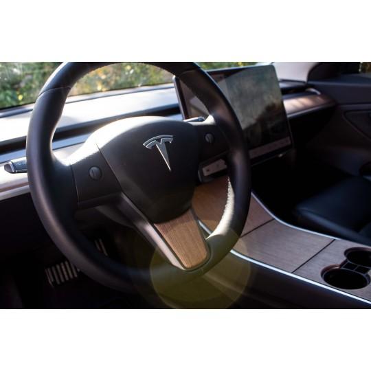 Inserción volante de madera para Tesla Model 3 y Model Y