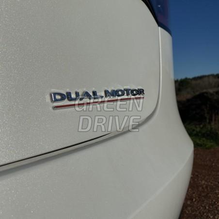 "DUAL MOTOR"" emblem for rear trunk - Tesla Model S, X, 3 & Y"
