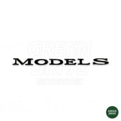 """Emblema """"MODEL S"""" nero opaco per il bagagliaio posteriore - Tesla Model S"""