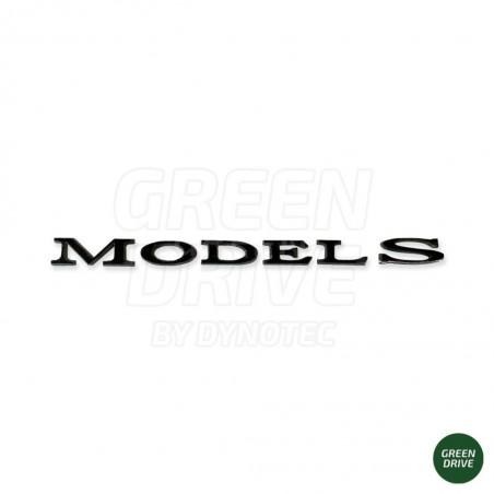 """Matte black """"MODEL S"""" emblem for rear trunk - Tesla Model S"""