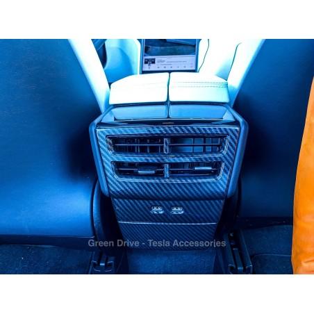 Carbon imitation rear ventilation insert - Tesla Model S, X