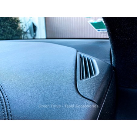 Insert imitation carbone ventilation avant - Tesla Model S, X