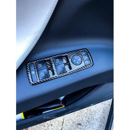 Insert rigide pour boutons intérieur imitation carbone - Tesla Model S et X