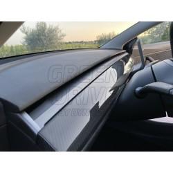 Inserto per cruscotto in carbonio - Tesla Model 3 e Y