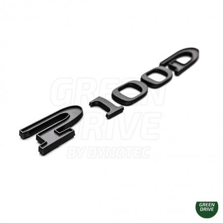 """Logo """"P100D"""" /"""" P90D"""" noir - Tesla Model S et X"""