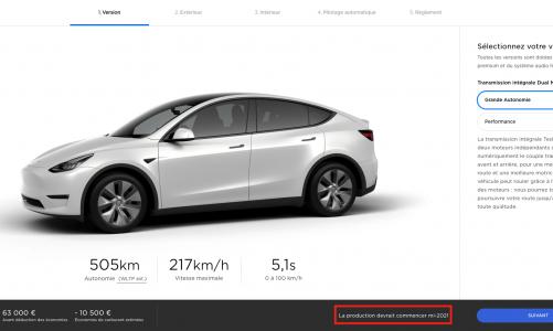Tesla mets à jour le configurateur du Model Y en Europe
